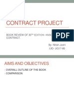 Contract Presentation on Anson's Law of Contract