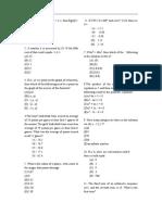 SAT 2 past paper -  Mathematics Level 2 year 2013(2)