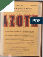 Azoth, May 1919