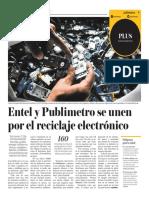 Entel y Publimetro Se Unen Por El Reciclaje Electrònico