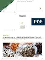 Legumbres, Indispensables en Dietas Vegetarianas y Veganas