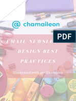 Email Newsletter Design Best Practices Illustrated With 40 Examples PDF