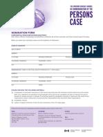 Governor General Award Nomination Form