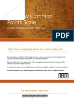 New Common Points Scale 2017