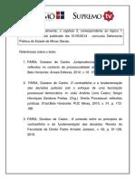 Artigo - Contraditório e Fundamentação - Professor Gustavo Faria