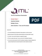 ITIL Practitioner 2015 Question Booklet en SamplePaper1