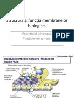 Structura Și Funcția Membranelor Biologice