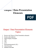 Data or Output Presentation