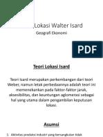 Teori Lokasi Walter Isard