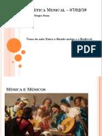 Estética musical - Prof. Sérgio Sena Junior