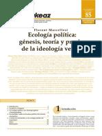 Marcellesi, F. (2009). Ecología política.pdf