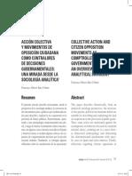 Accion colectiva y movimientos de oposicion ciudadana como controladores de decisiones - REV. INVI.pdf
