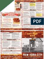 Anchor Bar NYC menu
