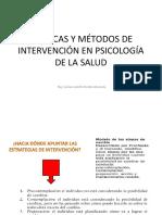 Tecnicas y Metodos de Intervencion en Psicologia de La Salud