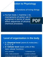 Physiology, Lecture 2 Function of Living Things (Slides)