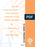 """""""Energy and the American West — From Remote Outposts to the Global Spotlight"""" by  J. C. Whorton, Jr. and John Whorton,"""