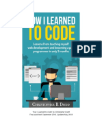 How I Learned to Code the eBook UPDATED MAY 2018