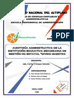 Auditoria Administrativa Del Colegio Divino Maestro La Pre.