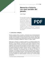 Josefa Viegas - Memoria e historia. Los usos políticos del pasadomemoria_historia.pdf