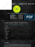 AGAMA ISLAM - Kelompok 6 - Akhlak Pribadi Kepribadian Muslim