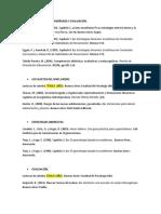 Bibliografía con normas APA.