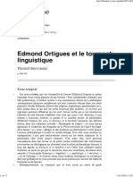 Edmond Ortigues Et Le Tournant Linguistique, Par V Descombes