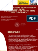 """THE ETHICAL PROFILE OF HOLDING HIDDEN OFF-SHORE CAPITAL:THE ITALIAN MOOD AFTER THE """"OFF-SHORE CAPITAL DISCLOSURE ACT"""""""