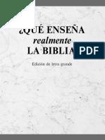 Que Enseña Realmente La Biblia - JW.org
