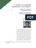 SEGA, C. M. P. a Estética Na Sociedade Globalizada e Tecnológica
