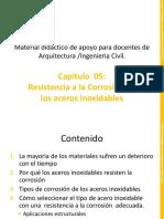 Capitulo 05 Resistencia a La Corrosion de Los Aceros Inoxidables 2017