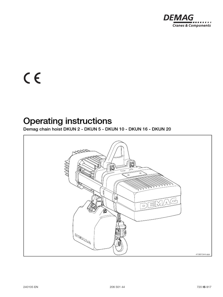 [ANLQ_8698]  Demag DKUN Hoist Operating Manual | Electrician | Safety | Demag Pendant Switch Wiring Diagram |  | Scribd