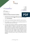 Letter to Justice O'Regan 16.5.18