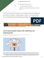 Los 6 principales tipos de sistemas de información