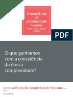 A Consciência Da Complexidade Humana