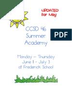 2018 summer academy brochuremay