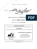 Daddy Long Legs - Libretto Vocal Book