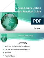 Explaining Equity American Option Definition and Valuation