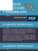 ACABADOS SUPERFICIALES