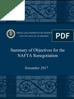 NAFTA Objectives Update