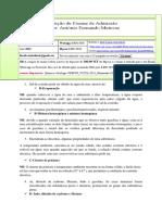 Resolução de Exame de Quimica UEM 2016