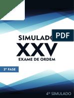 4º Simulado OAB de Bolso D. Tributário - 2ª Fase XXV Exame de Ordem