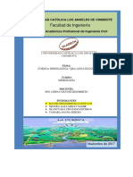 Calculos Hidrologicos de Una Cuenca Raymundo Espinoza