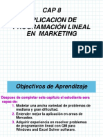 Aplicaciones Programación Linear para el Marketing