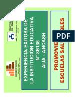 11.15 - 12.30 - 03 - ESCUELA PROMOTORA DE SALUD  I.E. N° 86136 AIJA - ANCASH