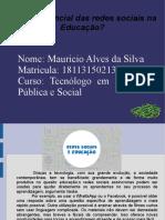 AD2 Mauricio Alves Da Silva- Tecnologia Em Segurança Pública e Social- Atividade 2