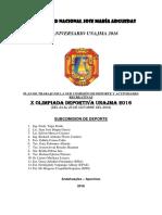 Plan de Comision de Deporte 2016