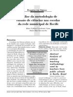 Análise Da Metodologia de Ensino de Ciências Nas Escolas Da Rede Municipal de Recife