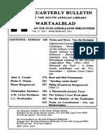 Kwartaalblad Van Die Suid-Afrikaanse Biblioteek Vol 37 No 3_mar 1983