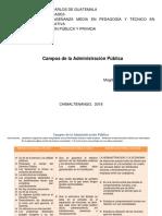 Campos de La Administración Pública Cuadro Comparativo