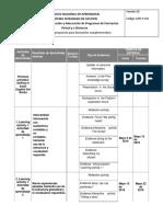 GFPI-F-011 Formato Cronograma Propuesto Para Formacion Complementaria Nivel 2 Updated May-June 2018